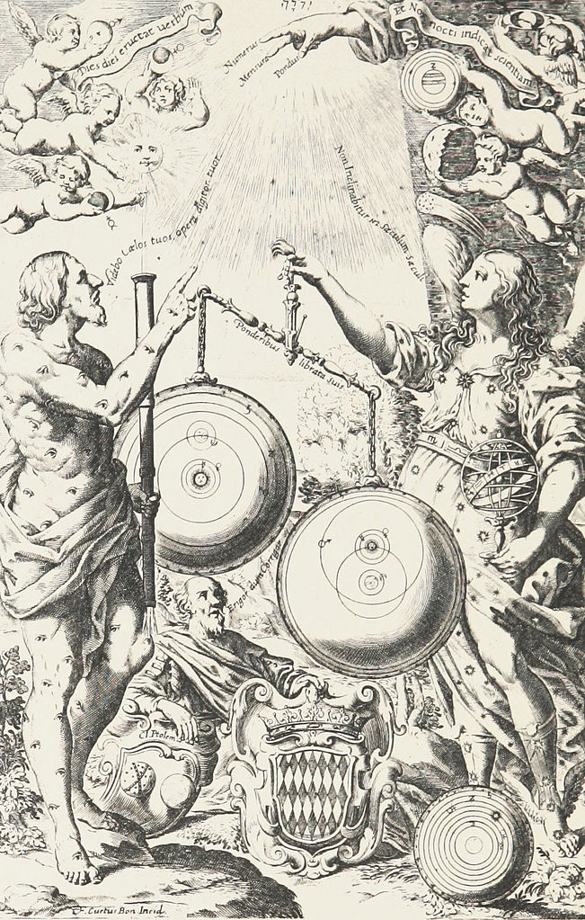 image from Ricciloli's New Almagest