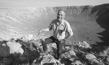 Gene Shoemaker at Barringer Crater
