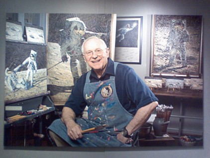 Alan Bean in his Studio