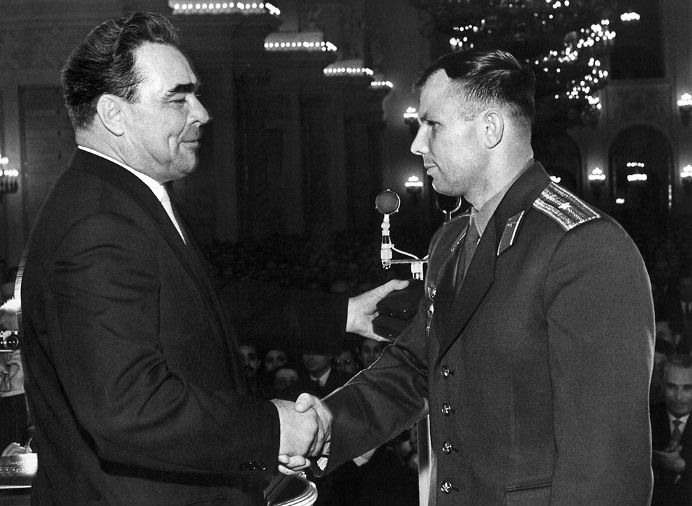 Brezhnev and Gagarin