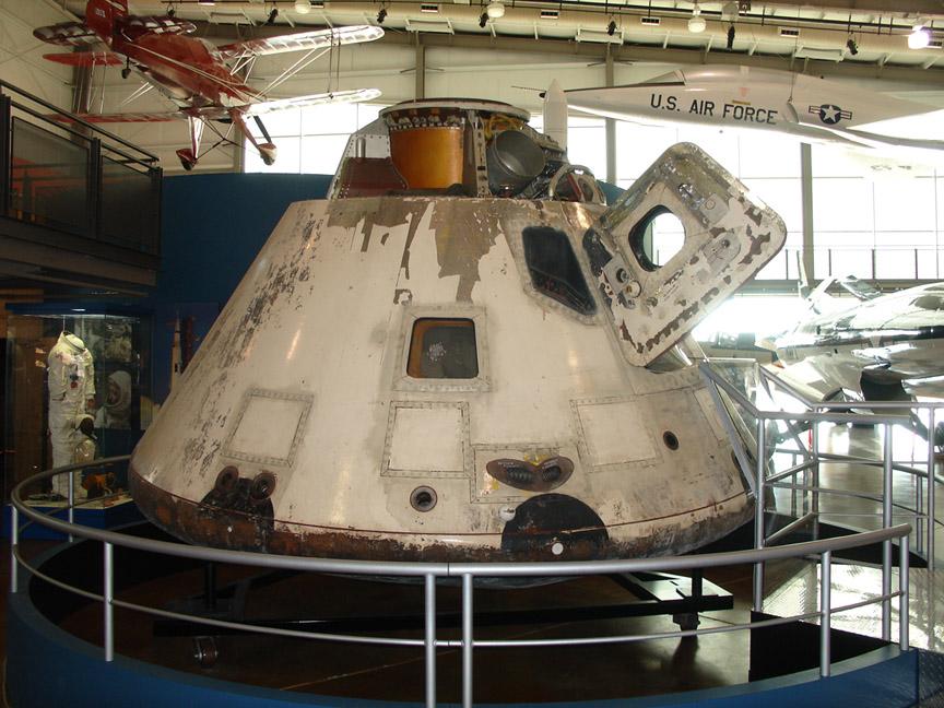 Apollo 7 capsule on display