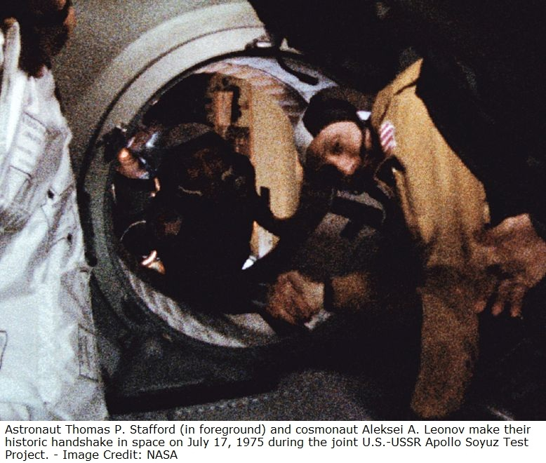 First International Handshake in Space