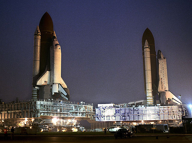 Space Shuttles passing in the night
