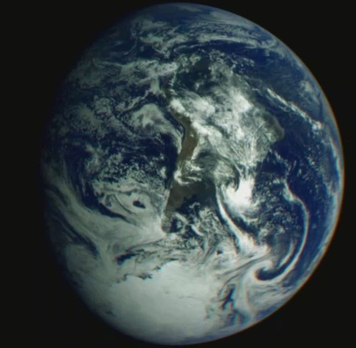 Earth Image from Galileo 1st flyby