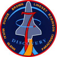 sts 95 mission patch