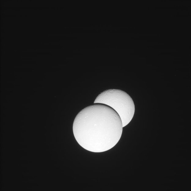 Rhea and Dione eclipse