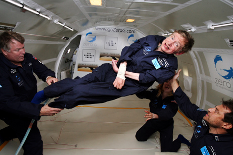 Stephen Hawking goes weightless