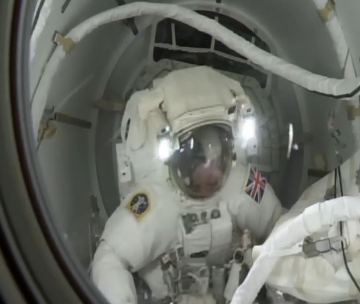 Tim Peake heads into space