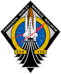 STS-136 Mission Patch. Omega-The End