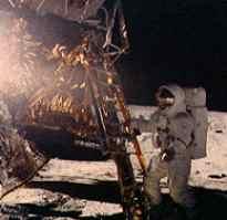 Alan Bean steps off second lunar lander