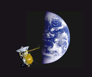 Cassini Earth Flyby