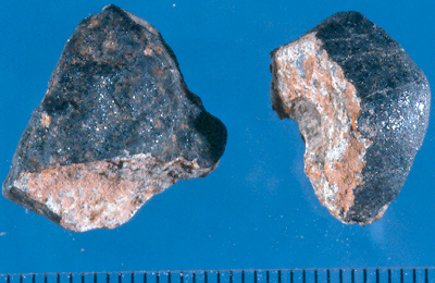 peices of the Holbrook Meteorite